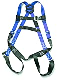 Gulfe Warehouse Adjustable Safety Harness Full-Body Picker w/ Pass Through Legs Black/Blue