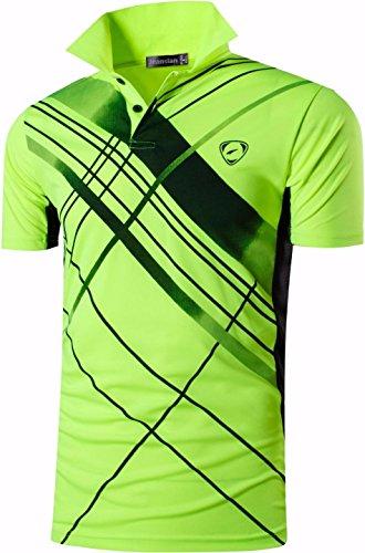 jeansian Uomo Allenarsi Sportivo Poliestere Asciugatura Rapida Camicie Workout Polo Shirt T-Shirts LSL195 2 spesavip