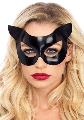 Halloween Cat Mask And Ears (Leg Avenue Women's Vinyl Cat Mask, Black, One)