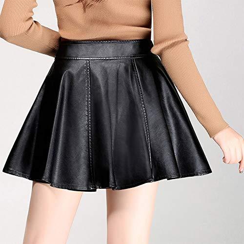 Grande Noir FS3026 Taille Cuir DISSA Club PU Plisse Jupe Mini qOXxaFwHv