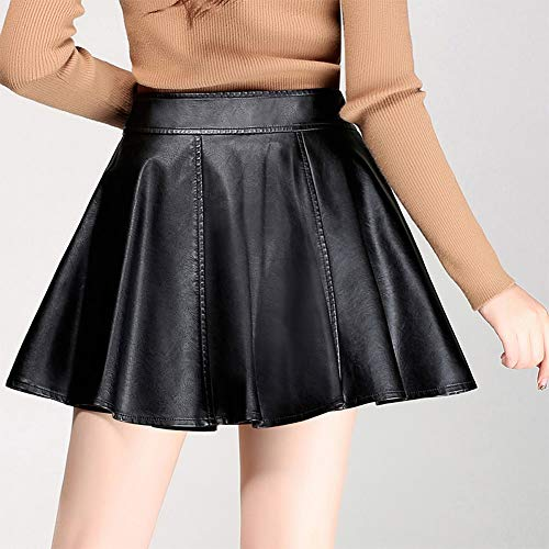 Dissa Noir Club Jupe Mini Taille Plissée Fs3026 Cuir Pu Grande wwqxBAFr