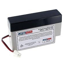 ELK ELK-1208J2 12V 0.8Ah Replacement Battery with J2 Quick Connector Terminals