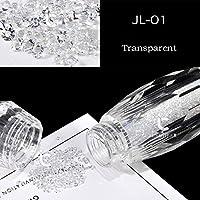 ICYCHEER Nail Glitter AB Crystal Glass Micro Nail Art Dazzling Caviar Beads 3D Pixie Mermaid Nail Tips Manicure Decoration (JL01)