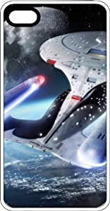 Enterprise Star Trek Spaceship Flying Clear Rubber Case for Apple iphone 4 4s or iphone 4 4s