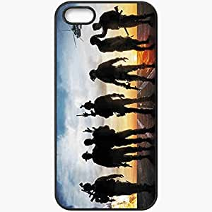 Personalized iPhone 5 5S Cell phone Case/Cover Skin Act Of Valor Soldiers Weapon Thriller Helicopter Black
