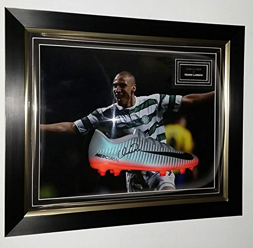 0b99b4f018f SignedMemorabiliaShop.co.uk Henrik Larsson Signed Football Boot and AFTAL  Dealer Certificate of Authenticity