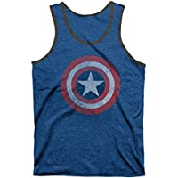 Captain America Shield Azul Speckle Negro Timbre playera sin mangas