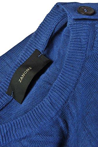 Zanone Pull Homme Bleu 50