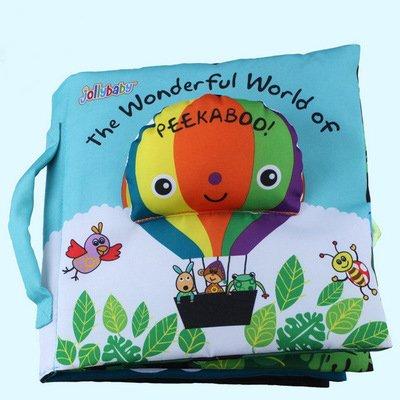 HOSIM Soft Baby libro de tela (5 Páginas) -infant/Toddler tela libros toy-precoce de aprendizaje & Libros de istruzione toy-miglior regalo para I Ragazzi y le niña (Monkey) CB-14