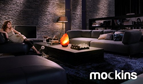Mockins 2 PACK Natural Hand Carved Himalayan Salt Lamp With A Stylish Wood Base & Bulb With On and Off Switch 6-8 Inches 5-7 lbs by Mockins (Image #4)