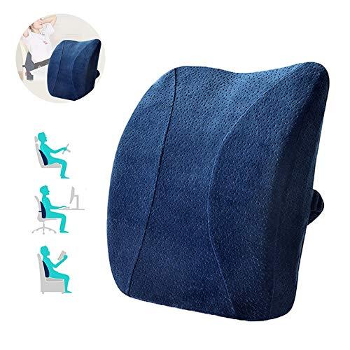 WDYu Lumbar Pillow Support Cushion Support Reading Backrest Cushion Ergonomic Sofa Car Chair Lower Back Pain for Lower Back Memory Foam - Contoured Backrest Sissy Bar