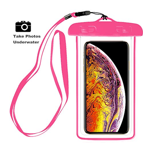 Universal Waterproof Case, IPX8 Waterproof Phone Pouch Dry Bag Compatible for iPhone Xs Max/XS/XR/X/8/8P/7/7P Galaxy,Upto 6.0