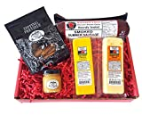 Classic Man Snack Gift Basket-Summer Sausage, Wisconsin Cheeses, Dipping Pretzels and Sweet & Tangy Mustard – Perfect Snack or Gift