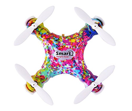 Dayan Anser Mini Drone RC Quadcopter, CX-10D CX 10D Pocket Hand Blade Nano Helicopters, Intelligent Fixed Altitude RC Aircraft, 3D Flip, One-Key Landing and Take Off, Colorful