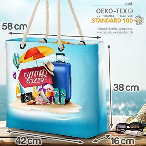 VOID semesterbagage strand hav strandväska Shopper 58 x 38 x 16 cm 23 L XXL shoppingväska väska resväska Beach Bag