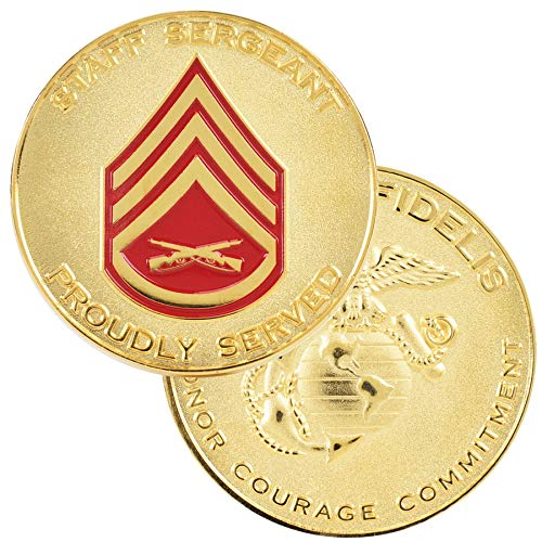 (Medals of America USMC Staff Sergeant Challenge Coin Gold)
