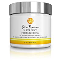 Super Sexy Firming Cream | Anti Aging Moisturizer for Face, Neck & Décolleté - Helps Reduce Wrinkles & Fine Lines - Natural & Organic Shea Butter & Jojoba Oil - Skin Nation by Michelle Stafford - 4oz