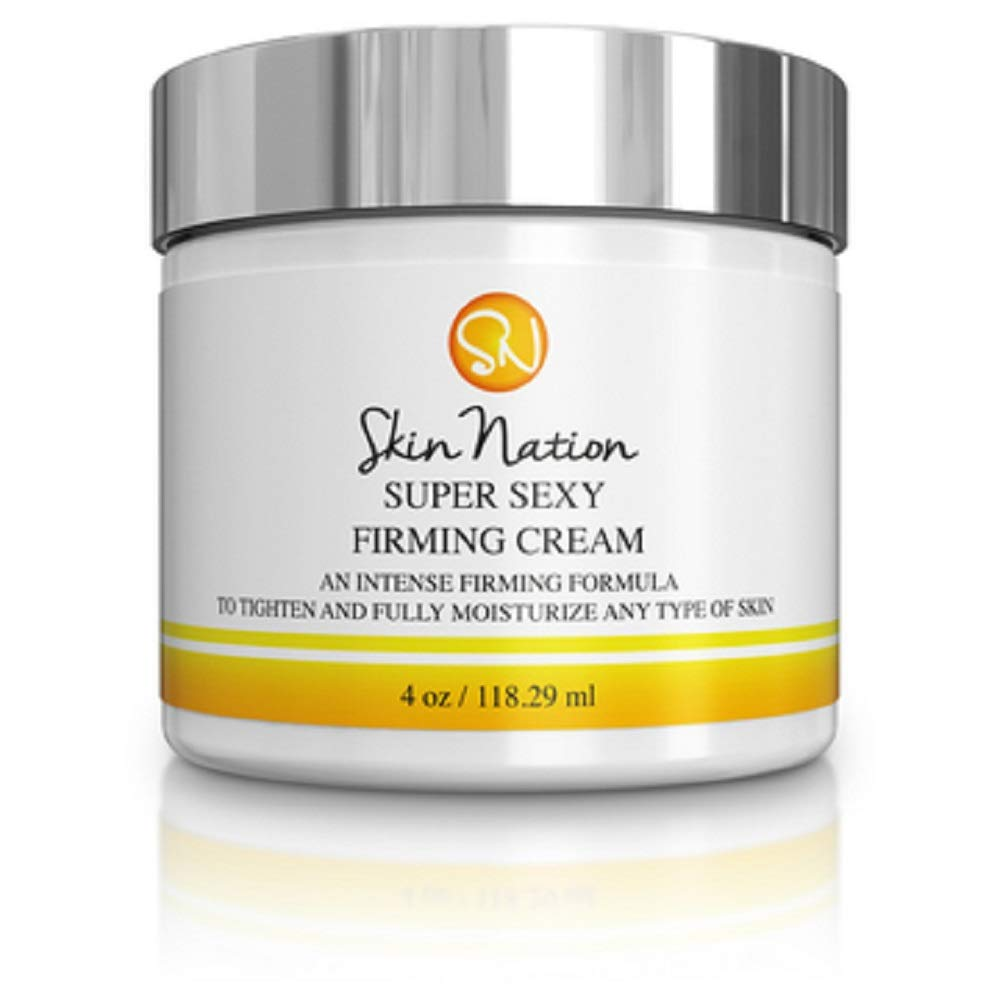 Super Sexy Firming Cream Body Lotion | Tighten, Tone & Firm Skin, Neck, Breast, Decolletage, Legs | Intense Anti Aging and Moisturizing Shea Butter, Jojoba Oil | Skin Nation by Michelle Stafford
