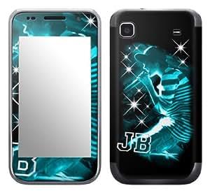 MusicSkins, MS-JB130275, Justin Bieber - Sparkle Blue, Samsung Galaxy S 4G (SGH-T959V), Skin by icecream design