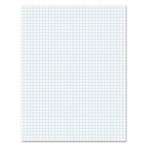 Ampad 8 1/2 x 11 Inches White Quad Pad, 4 Square Inch, 50 Sheets, 1 Each (Inch Grid Paper)