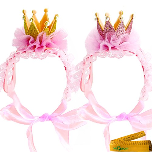 Wiz BBQT 2 Pcs Adorable Cute Cat Dog Pet Hair Head Bands Accessories for Kitten Puppy Small Dogs Cats Pets (B)