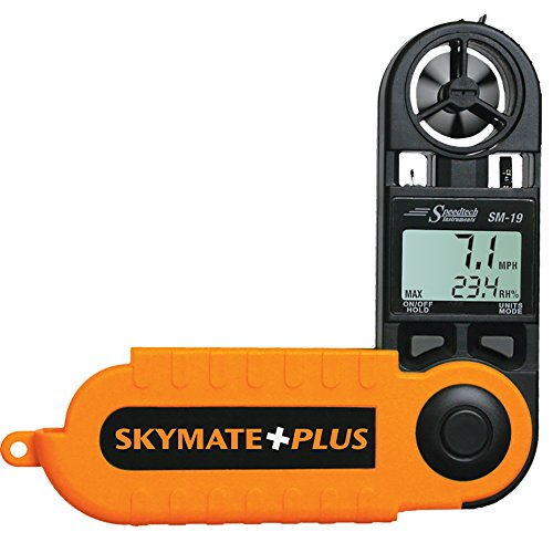 WeatherHawk SM-19 SkyMate Hand-Held Wind Meter, Orange/Black
