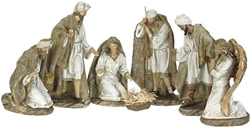 Mark Roberts Christmas Glittering Nativity Set - 7 Pieces