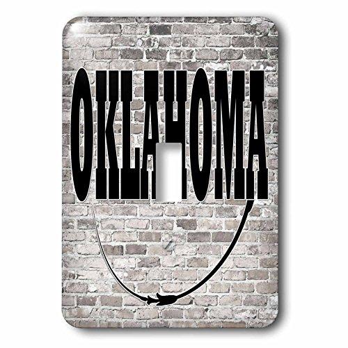 3dRose RinaPiro - US States - Oklahoma. State Capital is Oklahoma City. - Light Switch Covers - single toggle switch - City Outlet Oklahoma