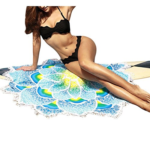 Erica Frauen Strand Decke Mandala Tapisserie böhmischen Lotus Form Druck Tassel Strand Schal Wand Dekor Yoga Mat , red , one size