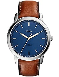 Men's The Minimalist Quartz Stainless Steel and Leather...