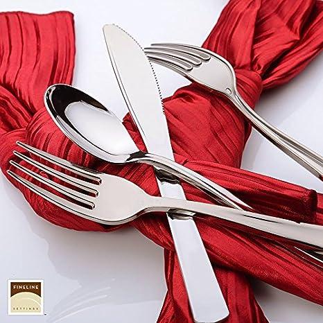 Pack of 25 Elegant Heavy Duty Plastic Polished Silver Plastic Forks