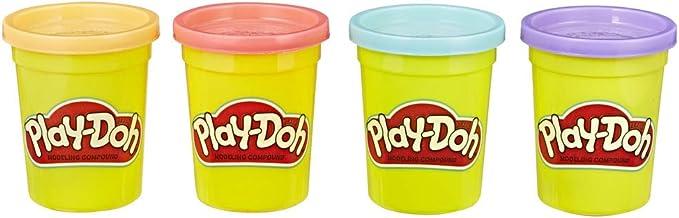 Play-Doh Pack De 4 Botes Clasicos (Hasbro B6508ES1) , color/modelo ...