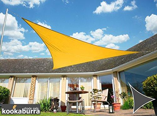 クッカバラ日除けシェードセイル 黄色 3m正三角形 紫外線98%カット 防水タイプ OL0109SST B00OBEJ5B6 11670 3m正三角形  3m正三角形