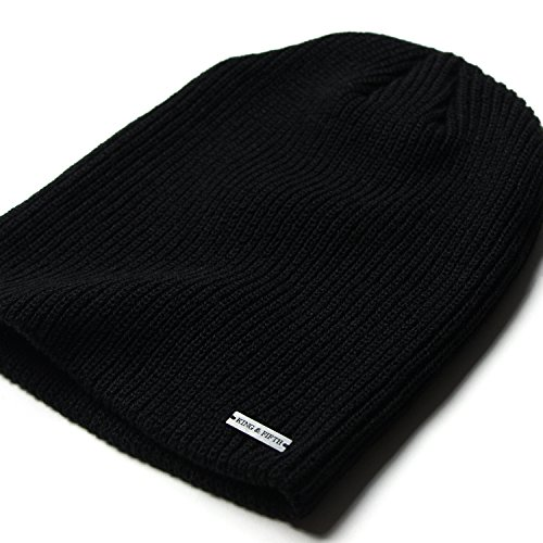 King & Fifth - Womens Slouchy Beanie - The Forte - Black