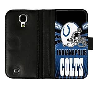 Colts Football Logo Samsung Galaxy S4 Diary Leather Cover Case For Fans Designed By PadCaseskingdom