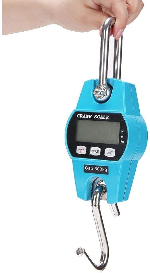 balanza de pesaje colgante digital LCD digital port/átil mini 300 kg con gancho Balanza de pesaje