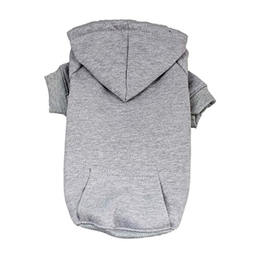 - DennyBella Basic Hoodie Sweatershirt Clothes Dogs (L, Grey)