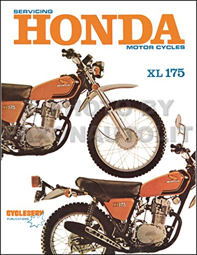 1973-1978 Honda XL175 Motorcycle Repair Shop Manual Cycleserv