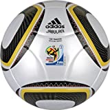 adidas WC10 NFHS Top Training Soccer Ball, White/Black/Pure Yellow, 5