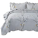 Extra Large King Bedspread Bedsure Plum Blossom Pattern King Size(106