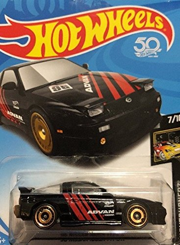 HOT WHEELS BLACK '96 NISSAN 180SX TYPE X DIE-CAST, ADVAN