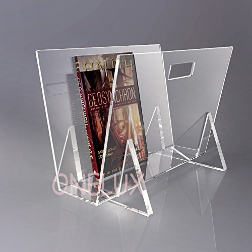 KD Packed Waterfall Acrylic magazine rack,Lucite book /newspaper /brochure pocket - A4 or A5 size (clear) by ONELUX (Image #2)