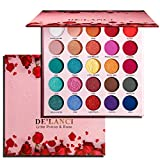 Eyeshadow Palette Matte Glitter Prince & Rose Makeup,Highly Pigmented Palette Eyeshadow Shimmer Metallic,Nudetude Pink Red Blue Green Gold Purple Colorful,Pro Fall Cute Big Eyeshadow Pallet 25 Color