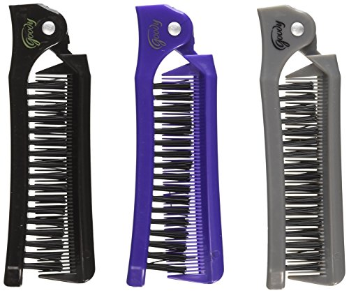 (Goody Style On The Go Folding Brush & Comb, Colors May Vary 1 ea (Pack of 3))