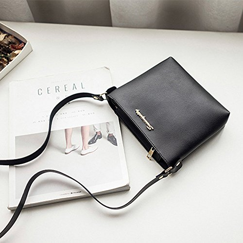 Coin Black Messenger Bag Women Shoulder Crossbody Vintage Bag Totes Fashion Small Purse Handbag Bag Min Phone POxTRZwx4q