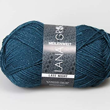 2012 schwarz 100 g Lana Grossa Wolle Kreativ Meilenweit 100 Merino Fb