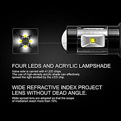 Cougar Motor 9006 LED Fog Light/DRL Bulbs - CREE 30W 5000K Bright White (Pack of two bulbs): Automotive