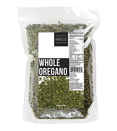 12 Ounces Whole Dried and Cut Mediterranean Oregano Leaves by Hayllo Dried Oregano