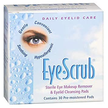 Eye Scrub Sterile Eye Makeup Remover Eyelid Cleansing Pads 30 ea Pack of 3