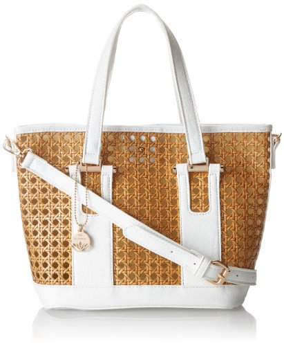 BIG BUDDHA Jpontiac Shoulder Bag,White,One